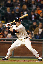 May 24, 2011; San Francisco, CA, USA;  San Francisco Giants catcher Buster Posey (28) at bat against the Florida Marlins during the ninth inning at AT&T Park. Florida defeated San Francisco 5-1.