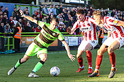 Forest Green Rovers Theo Archibald(18) on the ball during the EFL Sky Bet League 2 match between Forest Green Rovers and Cheltenham Town at the New Lawn, Forest Green, United Kingdom on 20 October 2018.