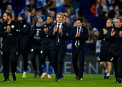 LEICESTER, ENGLAND - Saturday, November 10, 2018: Leicester City's manager Claude Puel applauds the supporters after the FA Premier League match between Leicester City FC and Burnley FC at the King Power Stadium. (Pic by David Rawcliffe/Propaganda)