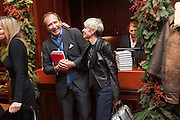 JULIAN METCALFE; BROOKE DE CAMPO, Book launch for ' Daughter of Empire - Life as a Mountbatten' by Lady Pamela Hicks. Ralph Lauren, 1 New Bond St. London. 12 November 2012.