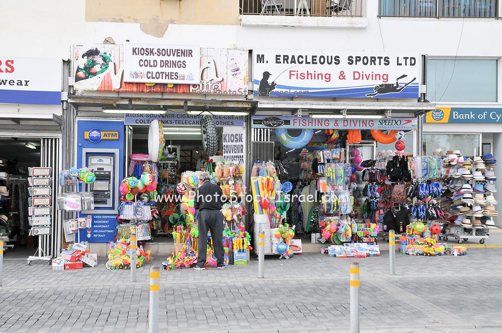 Souvenir shop in Paphos, Cyprus