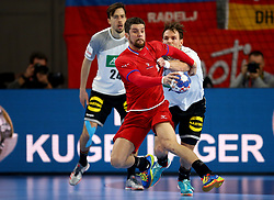 19.01.2018, Varazdin Arena, Varazdin, CRO, EHF EM, Herren, Deutschland vs Tschechien, Hauptrunde, Gruppe 2, im Bild Ondrej Zdrahala. // during the main round, group 2 match of the EHF men's Handball European Championship between Germany and Czech Republic at the Varazdin Arena in Varazdin, Croatia on 2018/01/19. EXPA Pictures © 2018, PhotoCredit: EXPA/ Pixsell/ Igor Kralj<br /> <br /> *****ATTENTION - for AUT, SLO, SUI, SWE, ITA, FRA only*****
