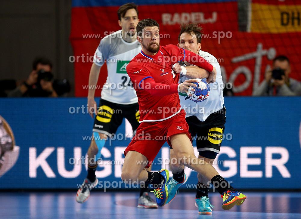 19.01.2018, Varazdin Arena, Varazdin, CRO, EHF EM, Herren, Deutschland vs Tschechien, Hauptrunde, Gruppe 2, im Bild Ondrej Zdrahala. // during the main round, group 2 match of the EHF men's Handball European Championship between Germany and Czech Republic at the Varazdin Arena in Varazdin, Croatia on 2018/01/19. EXPA Pictures © 2018, PhotoCredit: EXPA/ Pixsell/ Igor Kralj<br /> <br /> *****ATTENTION - for AUT, SLO, SUI, SWE, ITA, FRA only*****