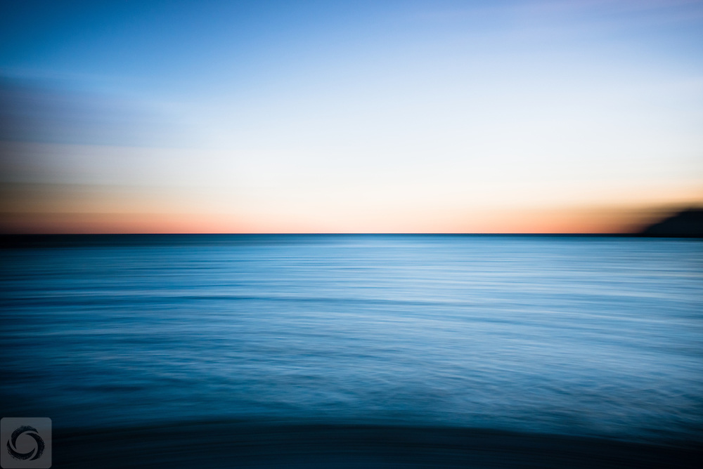 Abstract Seascape from the beach by Fort Wetherhill, Jamestown, Rhode Island.