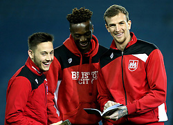Josh Brownhill, Tammy Abraham and Aden Flint of Bristol City - Mandatory by-line: Robbie Stephenson/JMP - 14/02/2017 - FOOTBALL - Elland Road - Leeds, England - Leeds United v Bristol City - Sky Bet Championship