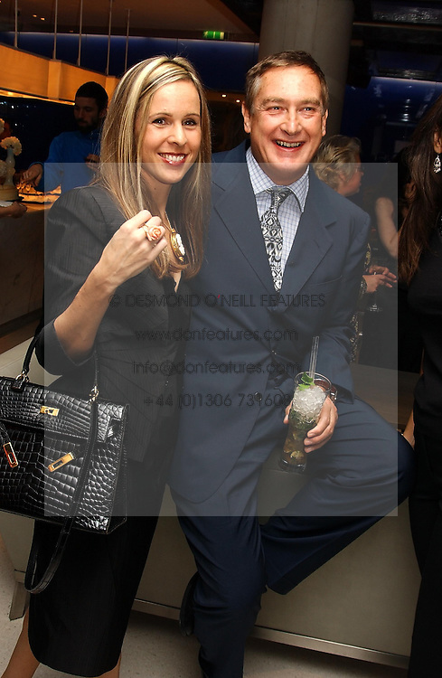 ROSA BONFIGLIO and PEPPE CIARDI at a dinner hosted by Cartier to celebrate the opening of the 2004 Frieze Art Fair, held at Yauacha 15-17 Broadwick Street, London W1 on 13th October 2004.<br />