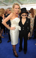 Left to right, AMANDA HOLDEN and YOKO ONO at the Glamour Women Of The Year Awards held in Berkeley Square, London on 8th June 2010.