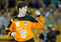 Sergeja Stefanisin of Slovenia during handball match between Women National teams of Slovenia and Serbia in 2nd Round of Qualifications for 2014 EHF European Championship on October 27, 2013 in Hala Tivoli, Ljubljana, Slovenia. Slovenia defeated Serbia 31-26. (Photo by Vid Ponikvar / Sportida)