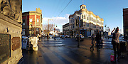 Port Townsend Victorian buildings in the winter golden afternoon light.<br />