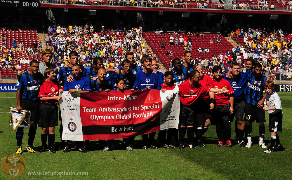 July 19, 2009; Stanford, CA, USA; The starting line up for Inter Milan poses for a picture before the match of the 2009 World Football Challenge against Club America at Stanford Stadium. Mandatory Credit: Kyle Terada-Terada Photo