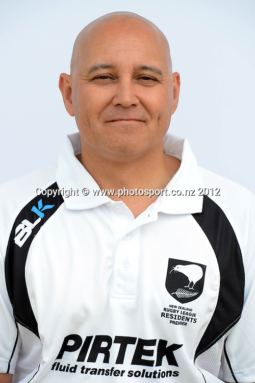 Jon Renes ( assistant trainer )<br /> NZ Residents Rugby League Team Headshots, Cornwall Park, Auckland. 25 October 2012. Photo: Andrew Cornaga/Photosport.co.nz