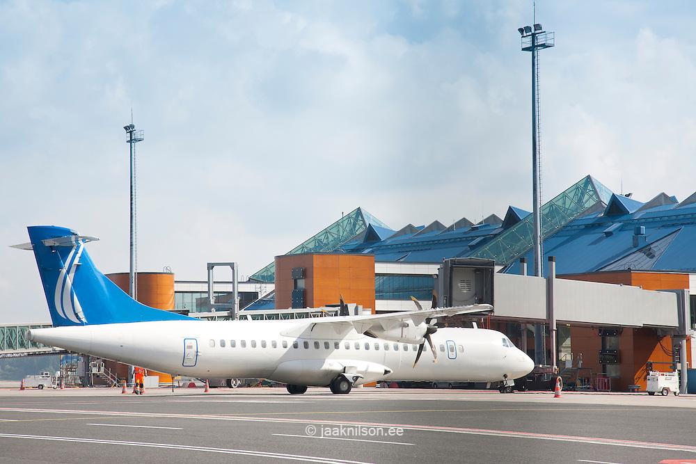 transport plane at airport