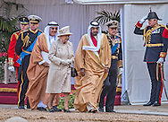 """STATE VISIT BY UAE'S SHEIKH KHALIFA BIN ZAYED AL NAHYAN .Ceremonial welcome at Windsor Castle, at the start of the two day State Visit to the UK by the President of the United Arab Emirates, Windsor_30/04/2013.Present at the ceremony were The Queen, Prince Philip and Prince Andrew..Mandatory Credit Photo: ©Harlen/NEWSPIX INTERNATIONAL..**ALL FEES PAYABLE TO: """"NEWSPIX INTERNATIONAL""""**..IMMEDIATE CONFIRMATION OF USAGE REQUIRED:.Newspix International, 31 Chinnery Hill, Bishop's Stortford, ENGLAND CM23 3PS.Tel:+441279 324672  ; Fax: +441279656877.Mobile:  07775681153.e-mail: info@newspixinternational.co.uk"""