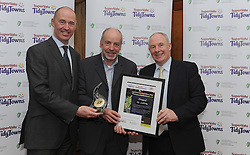 Dromod Co Leitrim Tidy Towns  collecting their Gold Medal at the North West and West Region &ndash;  Awards ceremony at Hotel Westport.<br /> From left Richard Lennon Supervalu, <br /> Pic Conor McKeown