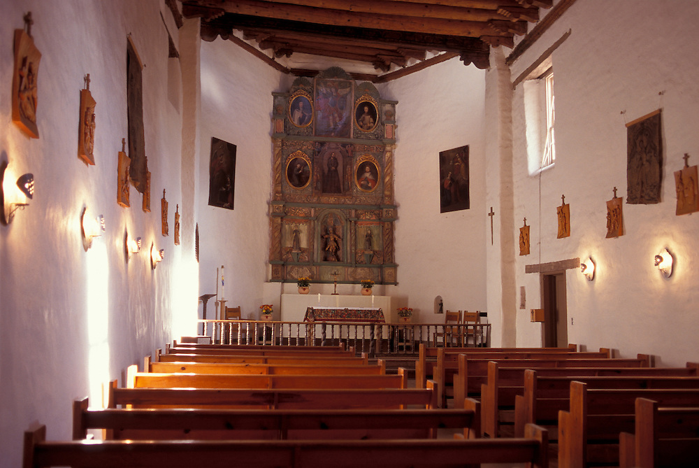 Altar at San Miguel Mission, Santa Fe, New Mexico, USA