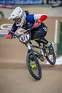 #971 (VALENTINO Manon) FRA at Round 1 of the 2020 UCI BMX Supercross World Cup in Shepparton, Australia