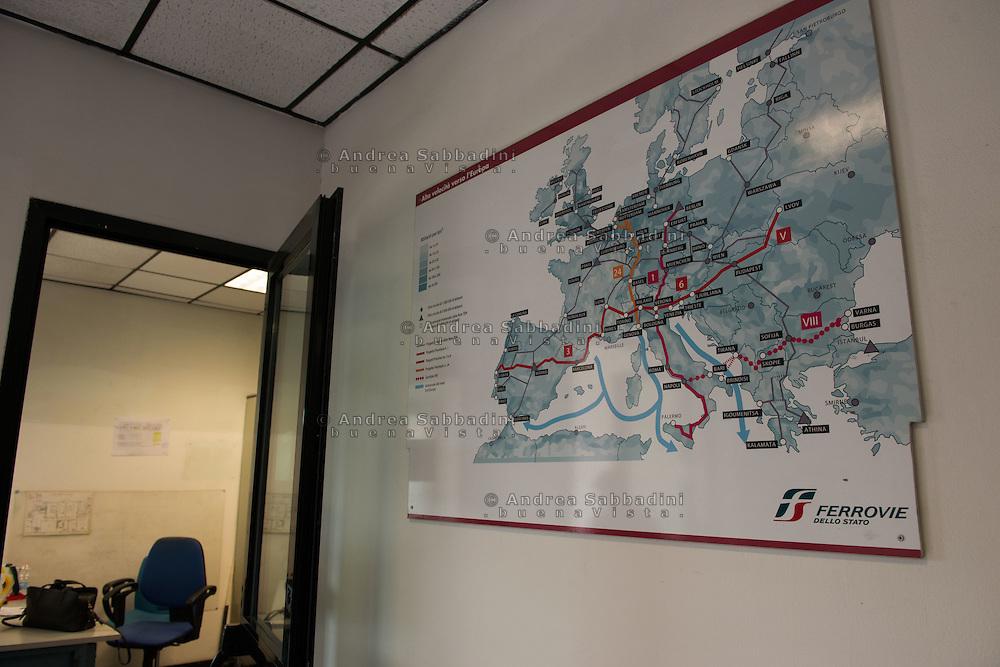 Roma, 27/11/2016: Attuale Apparato Centrale Computerizzato della Stazione Termini, la nuova sala di controllo del traffico ferroviario.<br /> &copy; Andrea Sabbadini