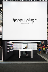 Happy Plugs stand at 2016  IFA (Internationale Funkausstellung Berlin), Berlin, Germany