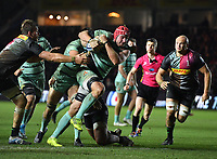 Rugby Union - 2019 / 2020 Gallagher Premiership - Harlequins vs. Gloucester<br /> <br /> Gloucester's Ben Morgan scores his sides third try, at The Stoop.<br /> <br /> COLORSPORT/ASHLEY WESTERN