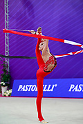 Nikolchenko Vlada during Qualification of ribbon at World Cup Pesaro 2018.<br />
