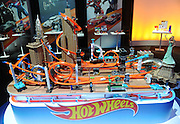 Hot Wheels showcases its top Track Builder sets at the New York Toy Fair, Friday, Feb. 12, 2016.  (Photo by Diane Bondareff/AP Images for Mattel)