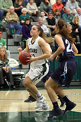 20 February 2016:  Gabby Weber during an NCAA women's basketball game between the Elmhurst Bluejays and the Illinois Wesleyan Titans in Shirk Center, Bloomington IL