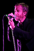 Photos of the band The National performing at the Scottrade Center in St. Louis in support of The Arcade Fire on April 21, 2011.