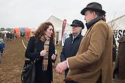 REBECCA BROOKS;  JAMES BROOKS; JEREMY CLARKSON, The Heythrop Hunt Point to Point. Cocklebarrow. 24 January 2016