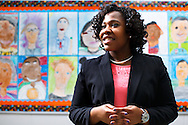 Kadrien Wilson at Simpkins Elementary School, Friday, February 26, 2016, in Greensboro, N.C.<br /> <br /> Kadrien Wilson is a senior at Bennett College in her hometown of Greensboro, N.C. Besides&nbsp;maintaining her 3.9 GPA and her position as vice president of the Student Government Association,she&nbsp;is a student teacher for a class of second graders at&nbsp;Simpkins Elementary School. After graduation,&nbsp;Kadrien plans to remain with&nbsp;Guilford County school system and hopes to rise through the administrative ranks to principal.<br /> <br /> JERRY WOLFORD and SCOTT MUTHERSBAUGH / Perfecta Visuals