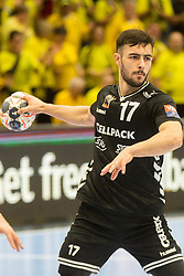 Pouya Norouzi of Kadetten Schaffhausen during handball match between RK Gorenje Velenje and Kadetten Schaffhausen in VELUX EHF Champions League, on November 25, 2017 in Rdeca Dvorana, Velenje, Slovenia. Photo by Ziga Zupan / Sportida