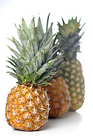 Studio shot of pineapple on white background