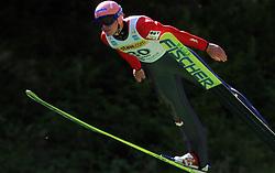 Roland Mueller of Austria at FIS Continental cup Ski-jumping Summer Kranj, on July 6, 2008, Kranj, Slovenia. (Photo by Vid Ponikvar / Sportal Images)<br /> <br /> / Sportida)
