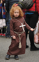 Roselle Cunningham was part of the Aughagower Community group at the parade on sunday.<br />Pic Conor McKeown