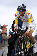 France - Tuesday, Jul 08 2008: Leonardo Piepoli (Ita) Saunier Duval - Scott finished in 177th place on stage 4, 6' 44'' down on the winner Stefan Schumacher. The stage was a 29.5 km time trial starting and ending in Cholet.    (Photo by Peter Horrell / http://www.peterhorrell.com)
