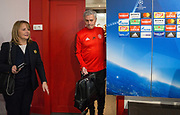 Manchester United Manager Jose Mourinho arrives before the Manchester United Football Club press conference ahead of the Champions League tie at the Ramon Sanchez Pizjuan Stadium, Seville, Spain on 20 February 2018. Picture by Phil Duncan.