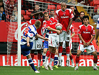 Photo: Tom Dulat.<br /> <br /> Charlton Athletic v Queens Park Rangers. Coca Cola Championship. 27/10/2007.<br /> <br /> Free kick by Martin Rowlands of Queens Park Rangers.
