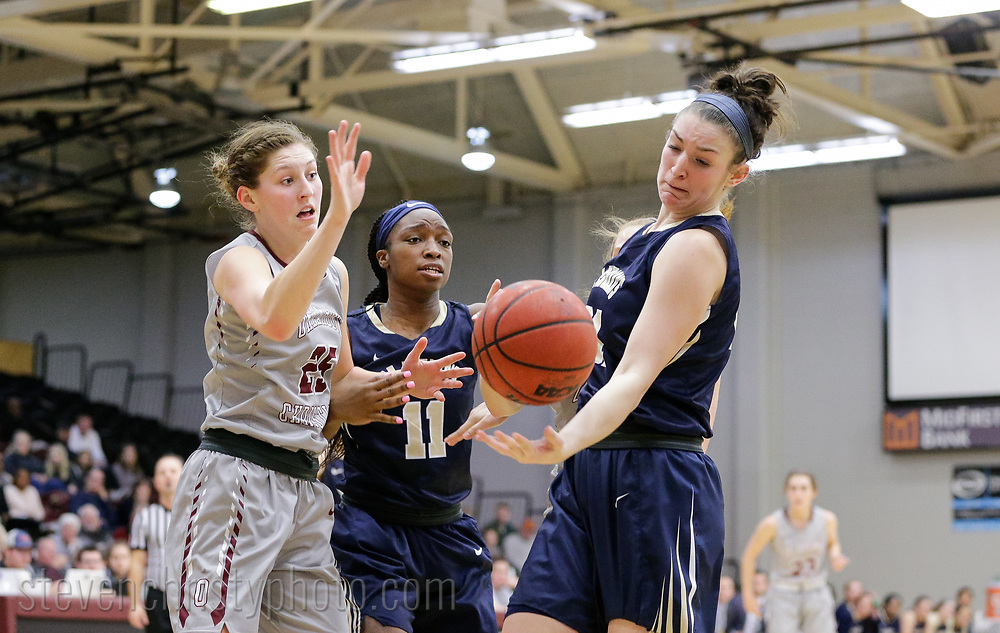 January 6, 2018: The St. Edward's University Hilltoppers play against the Oklahoma Christian University Lady Eagles in the Eagles Nest on the campus of Oklahoma Christian University.