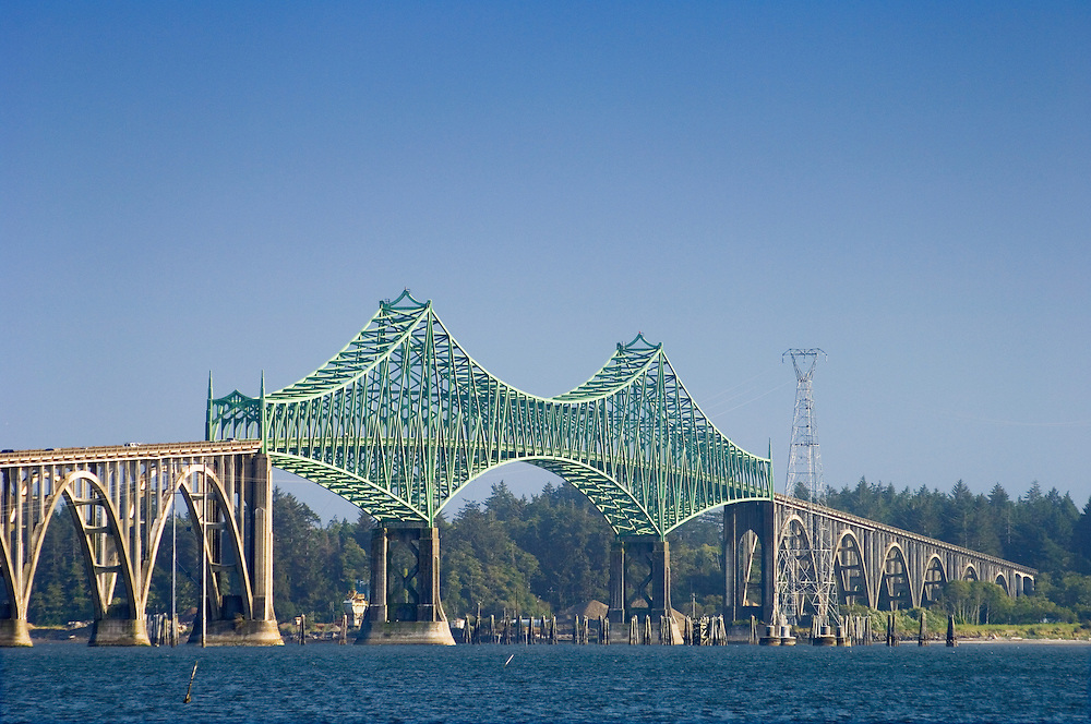 The Conde D. McCullough Memorial Bridge in Coos Bay on the Oregon Coast.