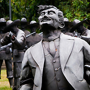 MANILA (Philippines). 2009. Statues in the site of Rizal´s Execution.José Rizal, executed by the spaniards in 1896 is considered the Philippines' national hero
