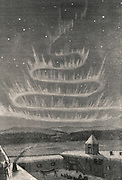 Aurora Borealis viewed in the Arctic Circle in 1868.