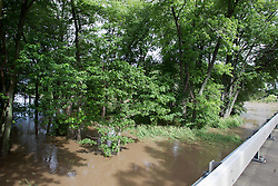 31 May 2013:  Mackinaw River flooding in spring or 2013 near Delavan Illinois.   Scenery and flooding in Tazwell and Mason Counties in Illinois