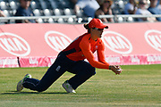 Wicket - Amy Jones of England takes the catch to dismiss Suzie Bates (c) of New Zealand off the bowling of Anya Shrubsole of England during the International T20 match between England Women Cricket and New Zealand at the Bristol County Ground, Bristol, United Kingdom on 28 June 2018. Picture by Graham Hunt.