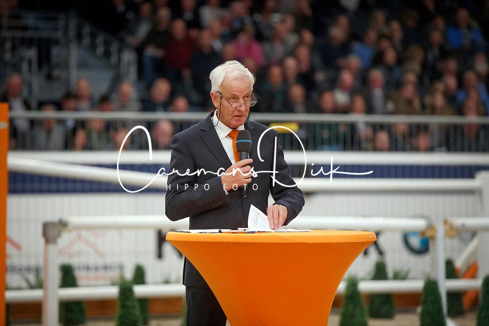 Cor Loeffen, NED voorzitter Hengstencommisie springen<br /> KWPN Stallionshow - 's Hertogenbosch 2018<br /> © Hippo Foto - Dirk Caremans<br /> 01/02/2018