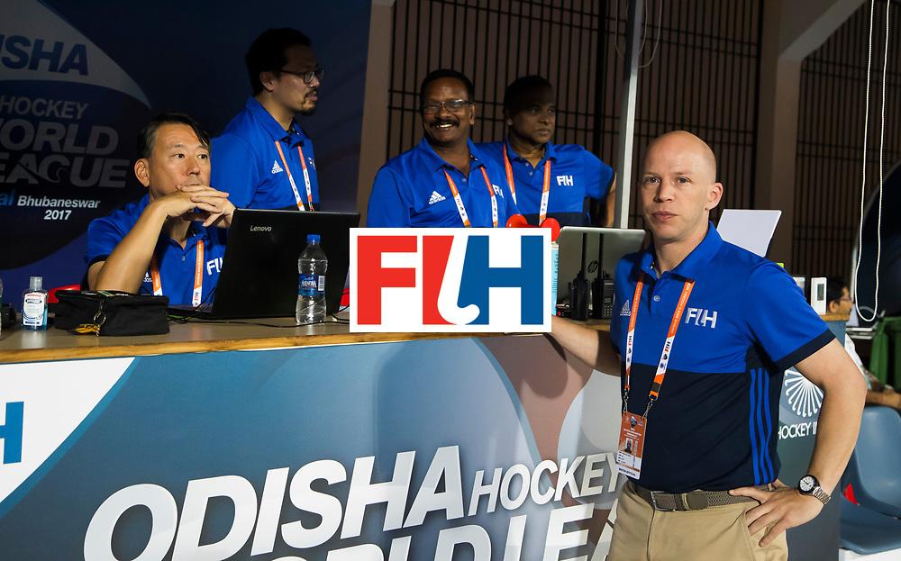 BHUBANESWAR - wedstrijdtafel.  Hockey World League finals , Quarter Finals . Spanje-Australie (1-4)  COPYRIGHT KOEN SUYK