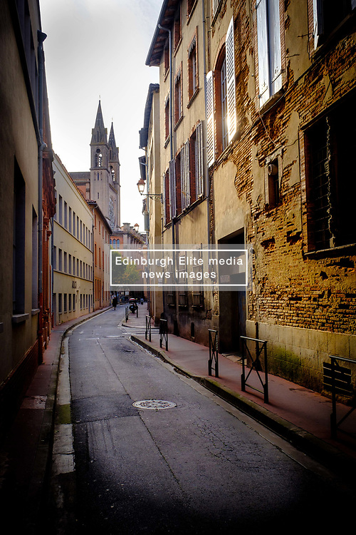 Looking along the Rue Furgole towards the Eglise du Gésu, Toulouse, France<br /> <br /> (c) Andrew Wilson | Edinburgh Elite media