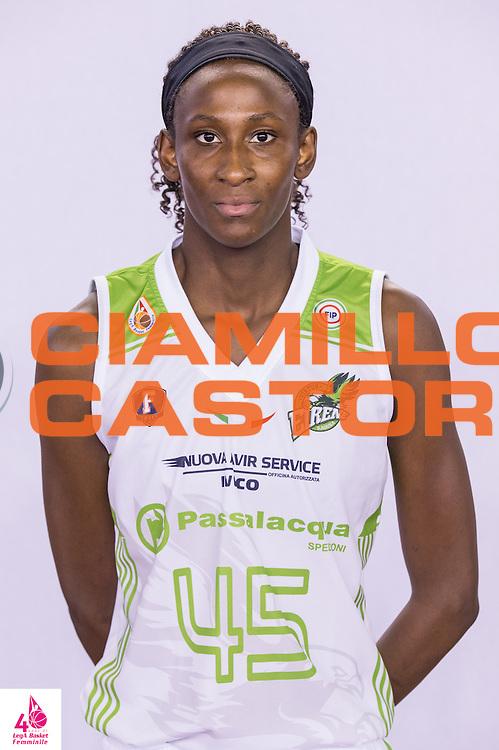 Barro Astou Gueye  Ndour <br /> Carispezia La Spezia Passalacqua Ragusa<br /> LegA Basket Femminile 2016/2017<br /> Lucca, 02/10/2016<br /> Foto Elio Castoria/Ciamillo-Castoria