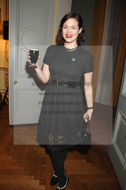 JASMINE GUINNESS at a party to celebrate the publication of 'Arthur's Road' a biography of Arthur Guinness written by Patrick Guinness held at the Irish Embassy, London on 6th March 2008.<br />