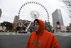 Frigid weather welcomed participants and spectators in the Peach Bowl Parade before Auburn faces UCF in the Chick-fil-A Peach Bowl, January 1, 2018, in Atlanta. (David Tulis via Abell Images for Chick-fil-A Peach Bowl)