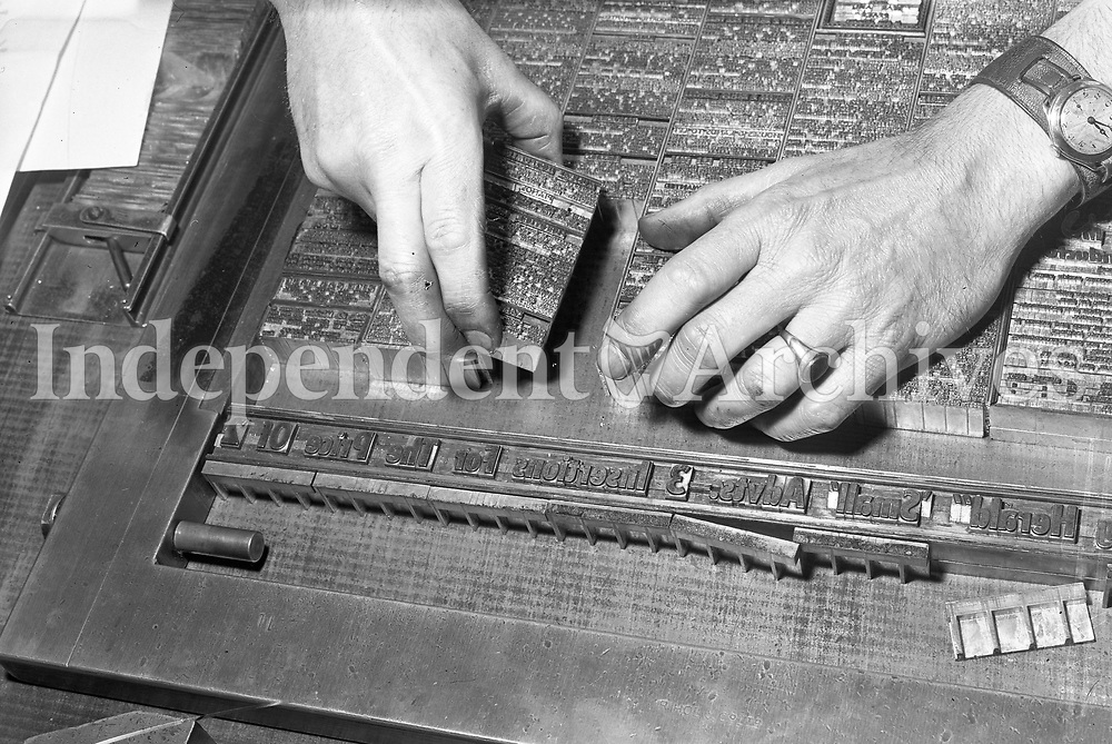 R1338<br /> Independent Newspapers. Printing Special.<br /> 16/8/1957.<br /> (Part of the Independent Ireland Newspapers/NLI Collection)