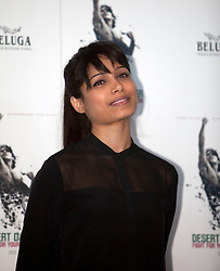 © Licensed to London News Pictures. 09/10/2012. London, U.K..Freida Pinto at the Photo call held at Sadlers Wells theatre with FOR the film DESERT DANCER directed by Richard Raymond and choreographed by Akram Khan. ..Photo credit : Rich Bowen/LNP